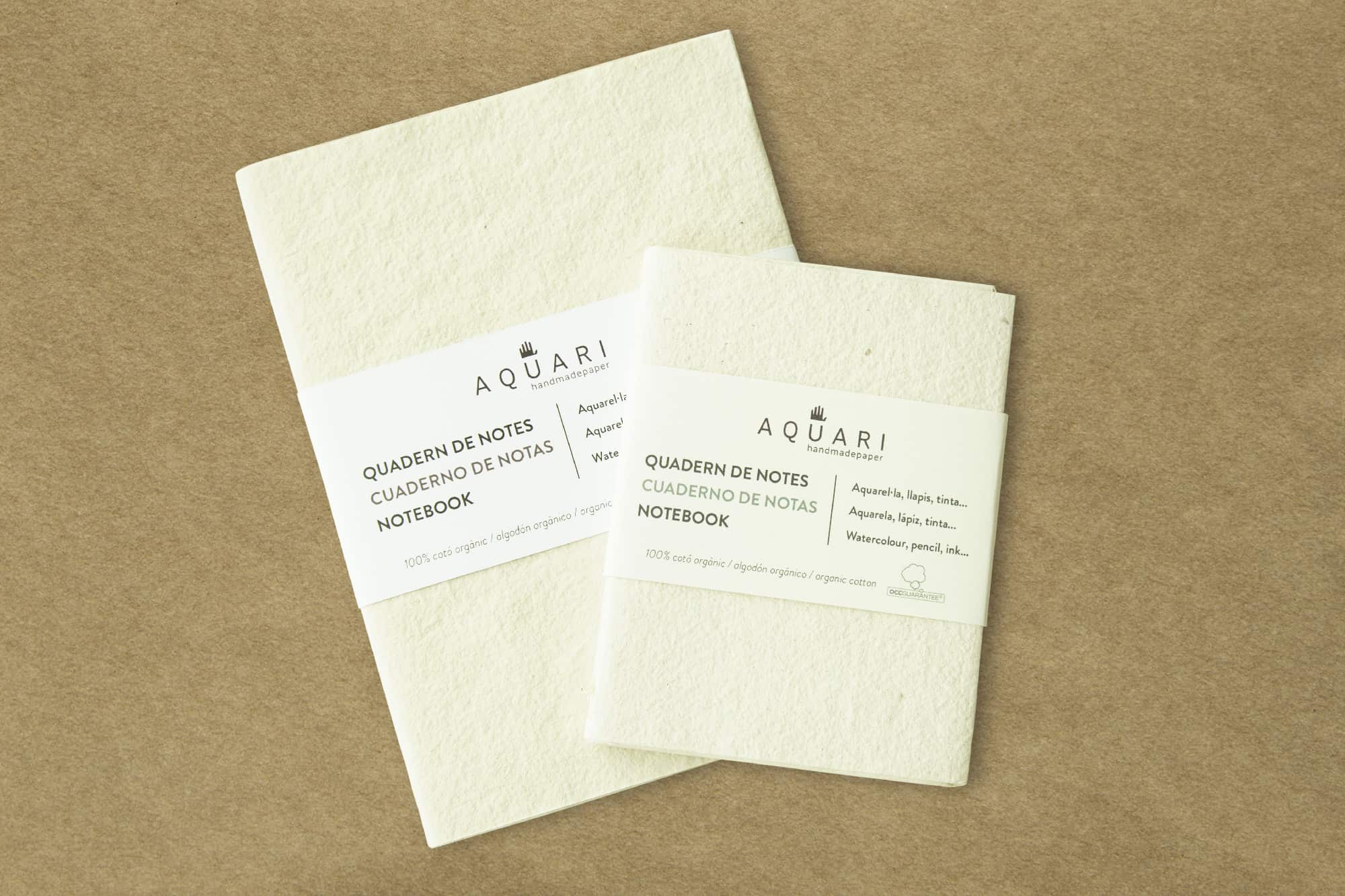 Not a blank sheet but in raw, green and brown colour. 100% organic OCCGuarantee paper!
