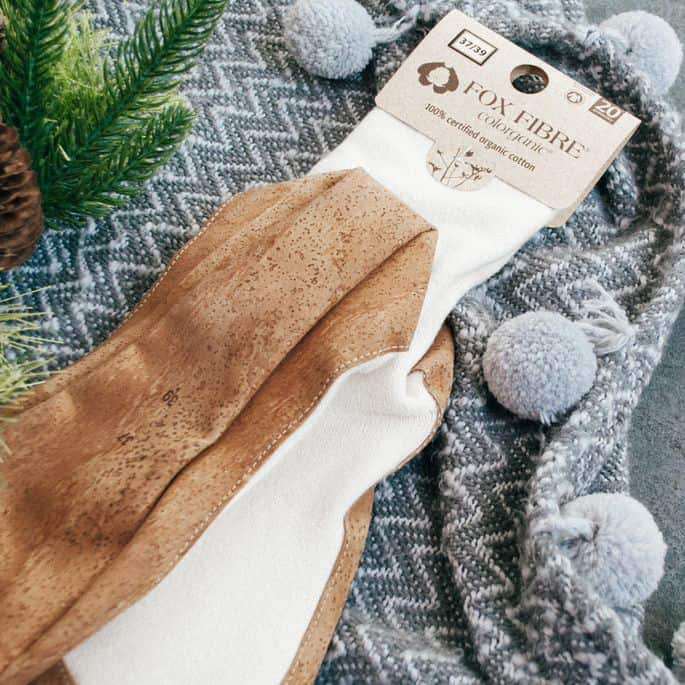 Sustainable steps at home: OCCGuarantee Home terry socks with cork sole