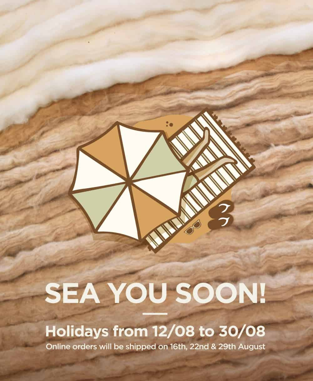 ¡Sea you soon! Holidays from 12 to 30 August