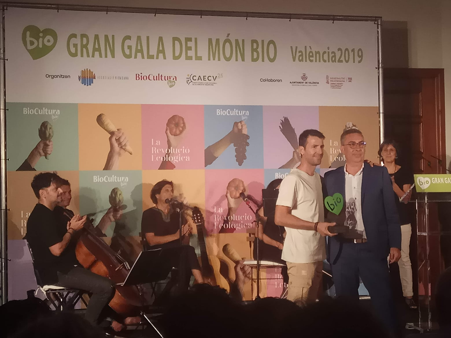 ¡We have a 'green heart'! BioCultura Award at the Gran Gala Bio 2019
